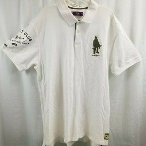 AKOO HUNT CLUB MEN'S 4XL White POLO SHORT SLEEVE S